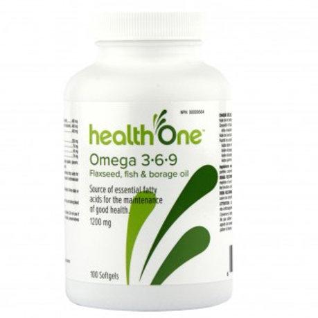 H One Omega 3-6-9 1200mg Soft Gels 100's