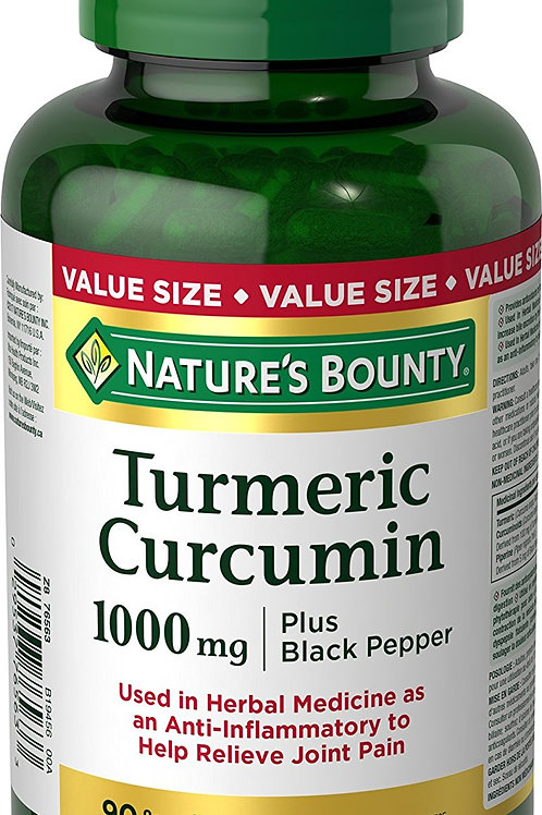 Nature's Bounty Tumeric and Black 90's