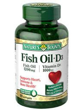 Nature's Bounty Fish Oil with Vitamin D 90's