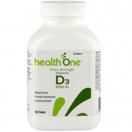 H One Vitamin D 1000IU Tabs 180's