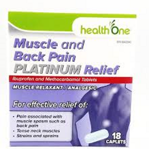 H One Plat Muscle and Back Pain 18's