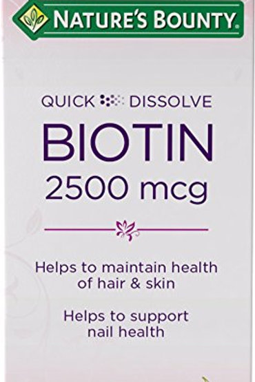 Nature's Bounty Biotin 2500MCG 100's