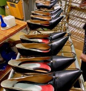 Womens Designer Shoes Being Made