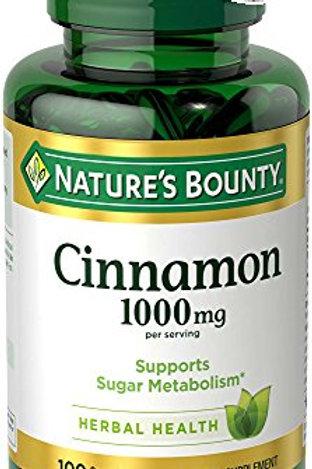 Nature's Bounty Cinnamon Caps 100's