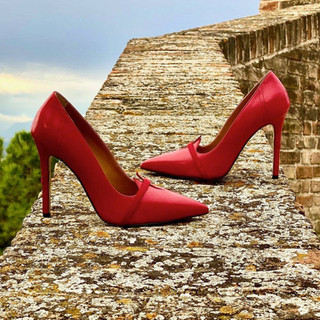 Red Womens Designer Shoes  | AMRJ Shoe Design