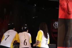 Jovens do projeto no museu do Flamengo