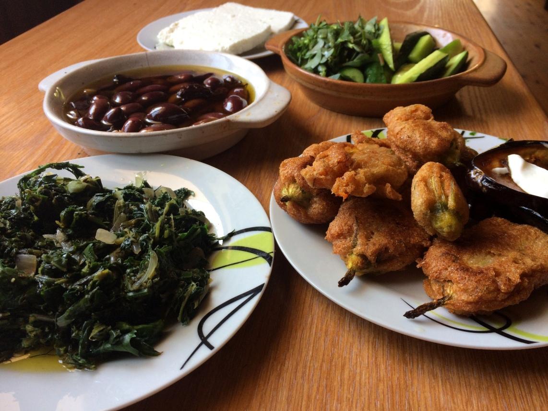 Various Ikarian appetizers