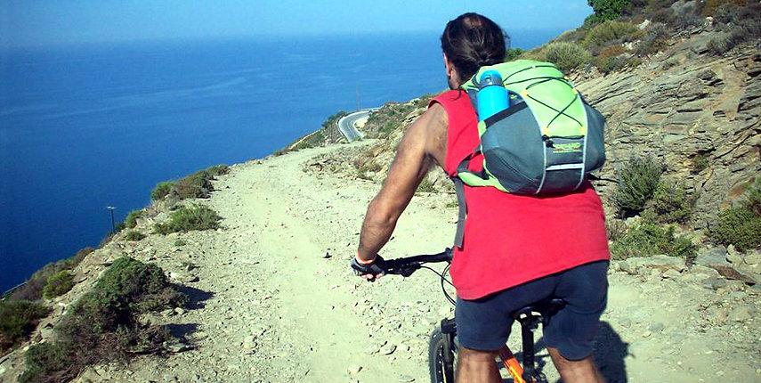 Biking in Ikaria and cycling in Ikaria