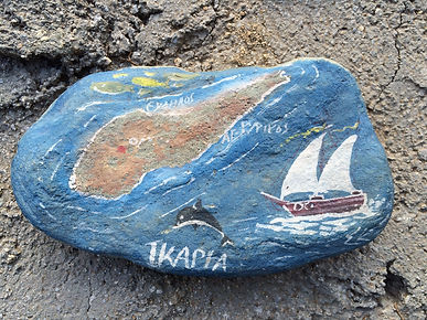 Painted stone with Ikaria