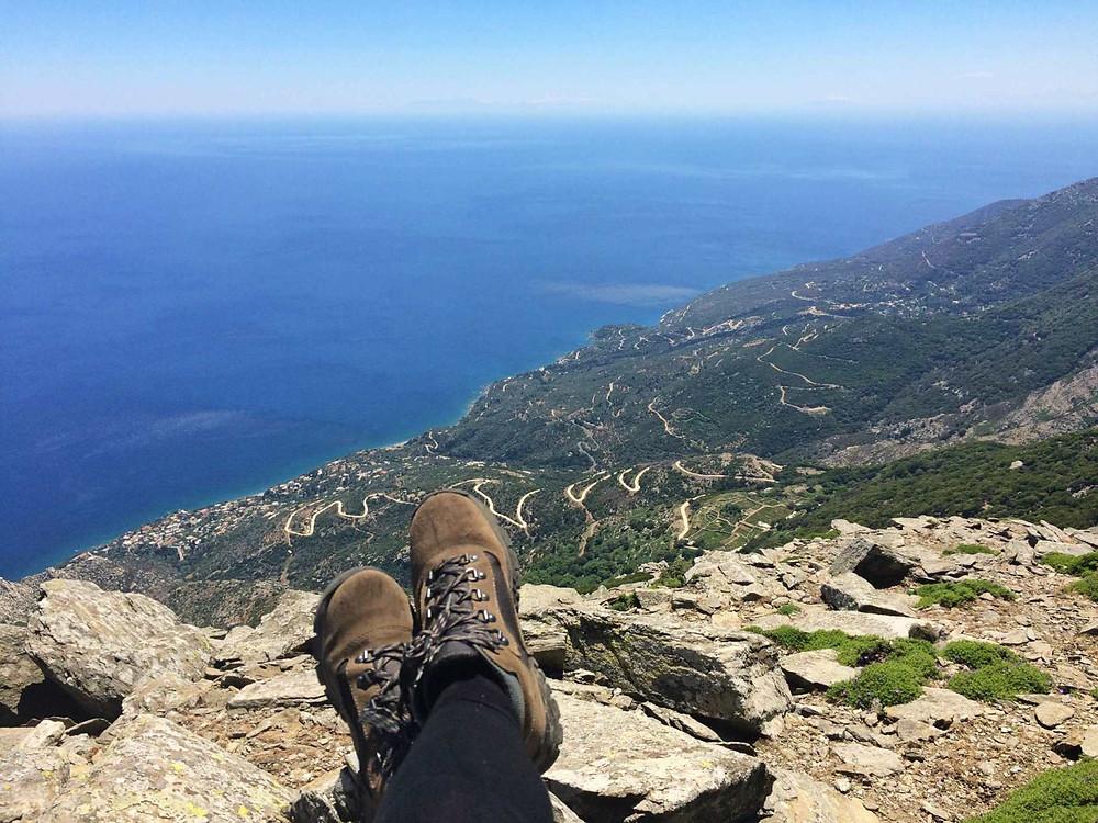 Hiking Ikaria - Hike to Atheras mountain to the top of Ikaria