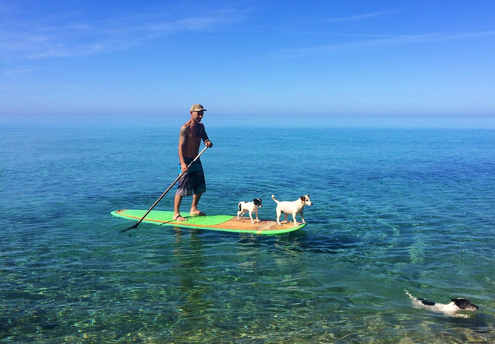 Sup in Ikaria - Surfing and sup lessons on Messakti beach Ikaria