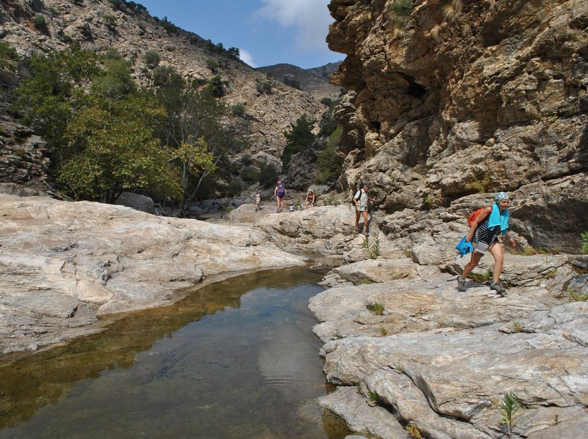 River trekking in Ikaria - Halaris