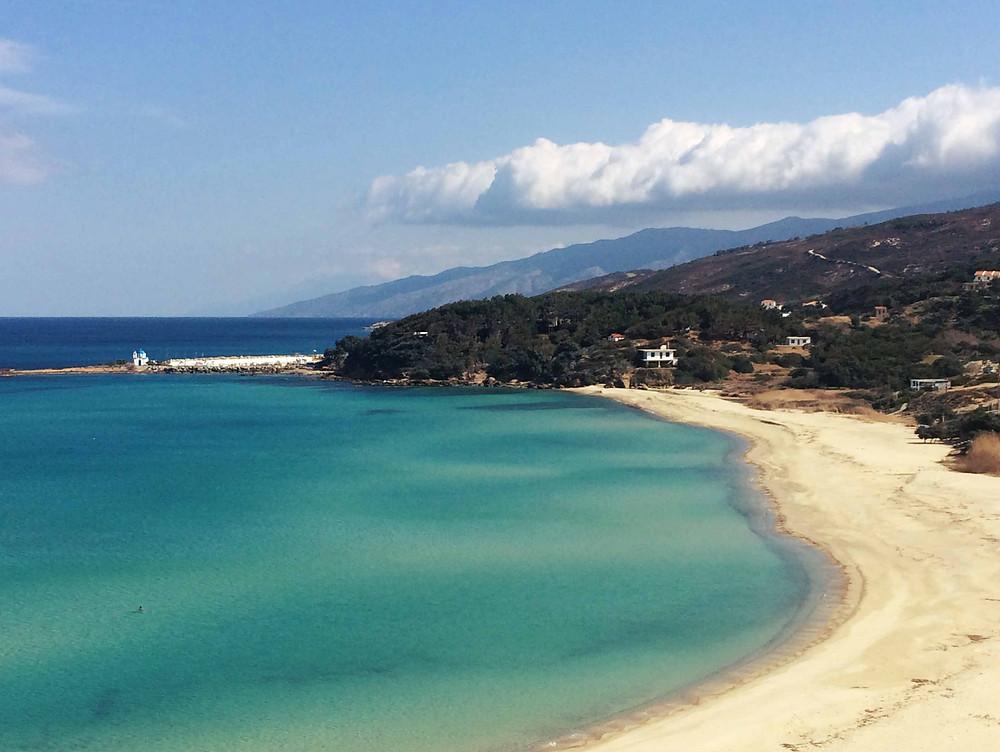 Messakti beach in Ikaria near Armenistis and Gialiskari low season