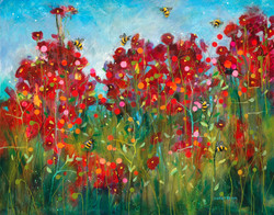 Bumblebees and Poppies