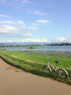 江津湖サイクリング