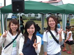 五橋祭ボランティアの休憩時間