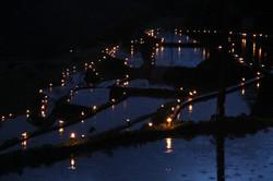棚田の灯りボランティア イベントの様子