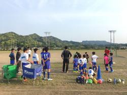 子どもたちのサッカー指導