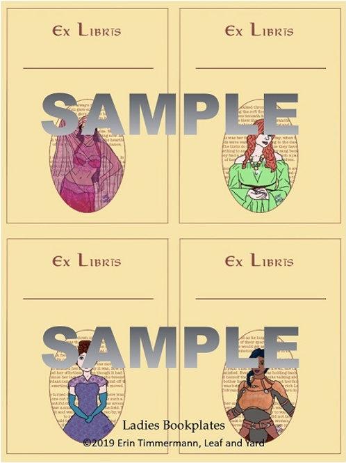 Fantasy Ladies Bookplates