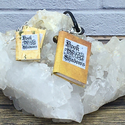 Miniature Book Earrings or Necklace
