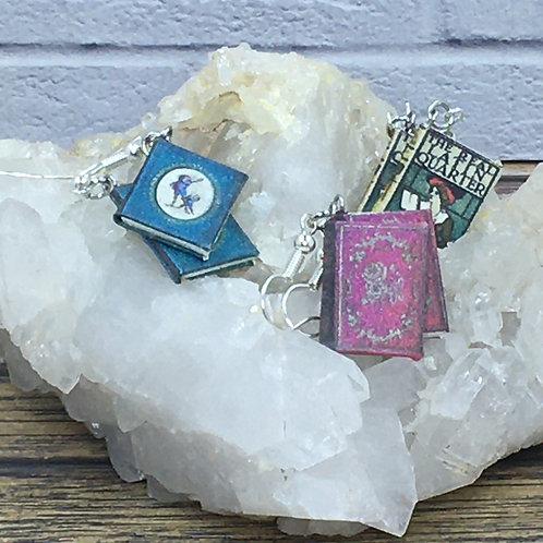 Miniature Book Earrings