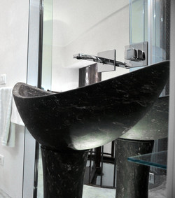 lavabo in pietra pece