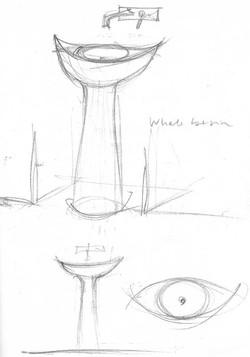 sketch per lavabo in pietra pece