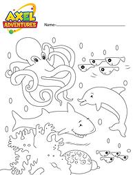 Download Free Coloring in Sheet - sea.pn