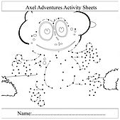 free activity sheets. free dot to dot .j