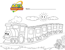 train coloring in .png
