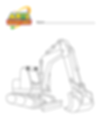 excavator coloring in .png