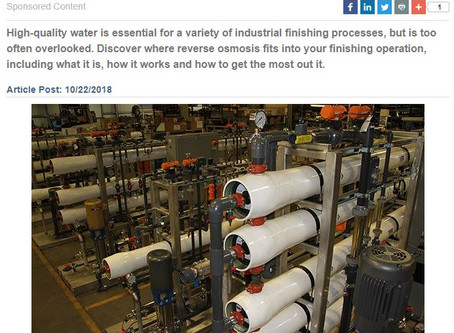 How to Optimize Your Reverse Osmosis System for Surface Finishing