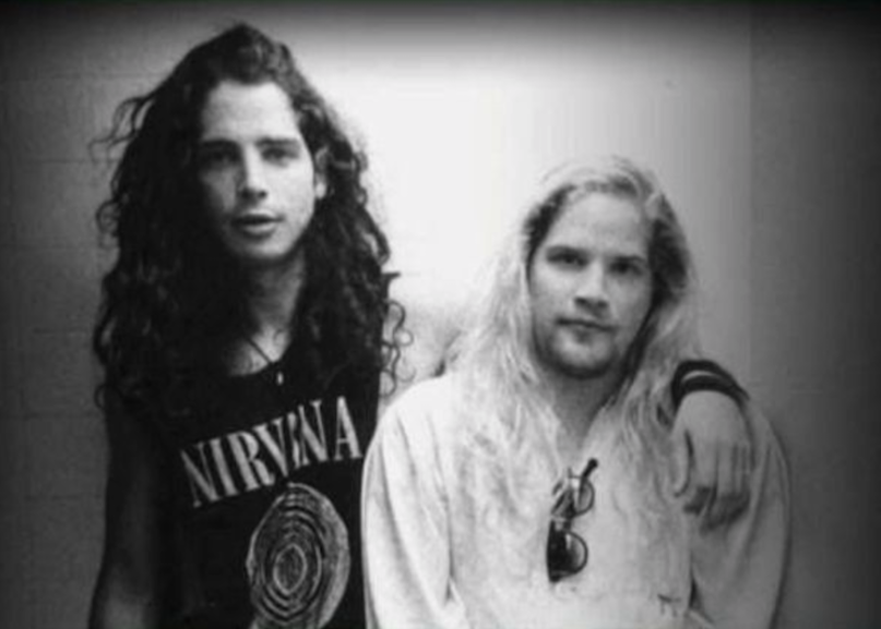 Chris Cornell with his beloved friend, Andrew Wood from Mother Love Bone