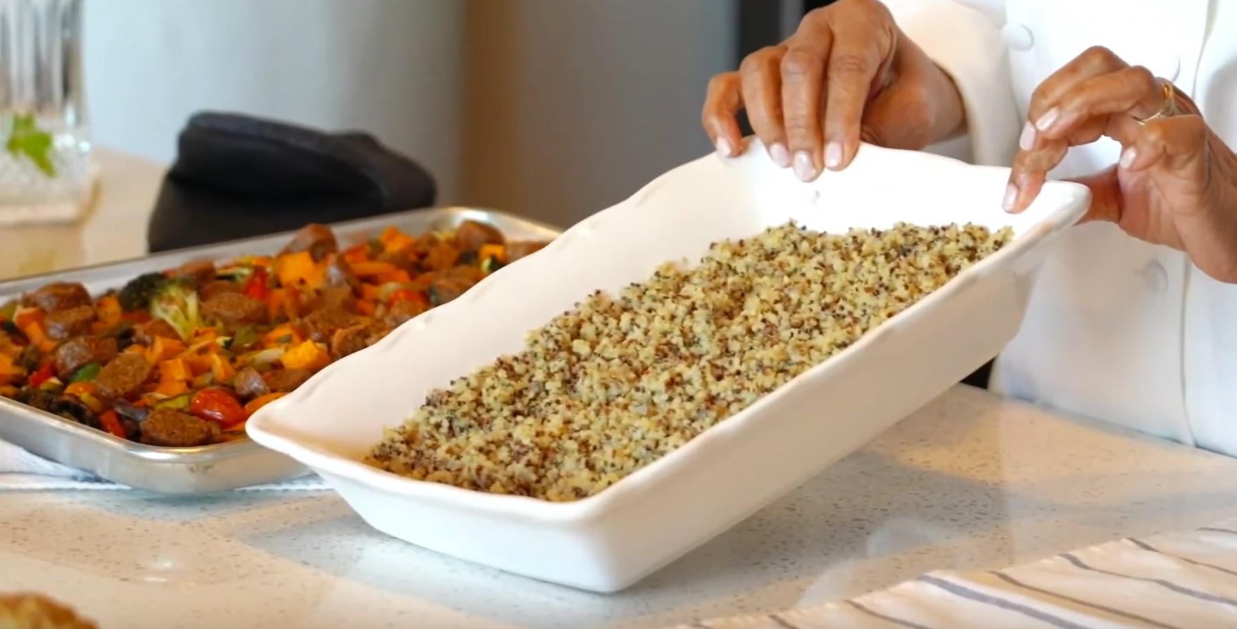 Oven Baked Quinoa