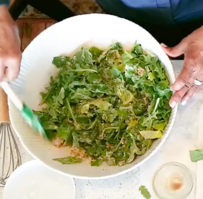 Vegan Caesar Salad w/ Tofu Croutons