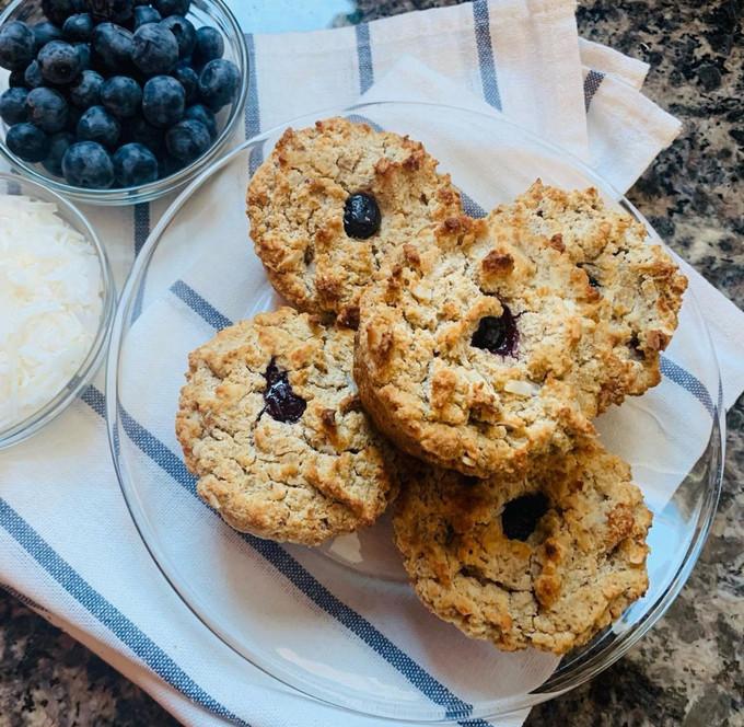 Vegan Coconut & Blueberry Muffins