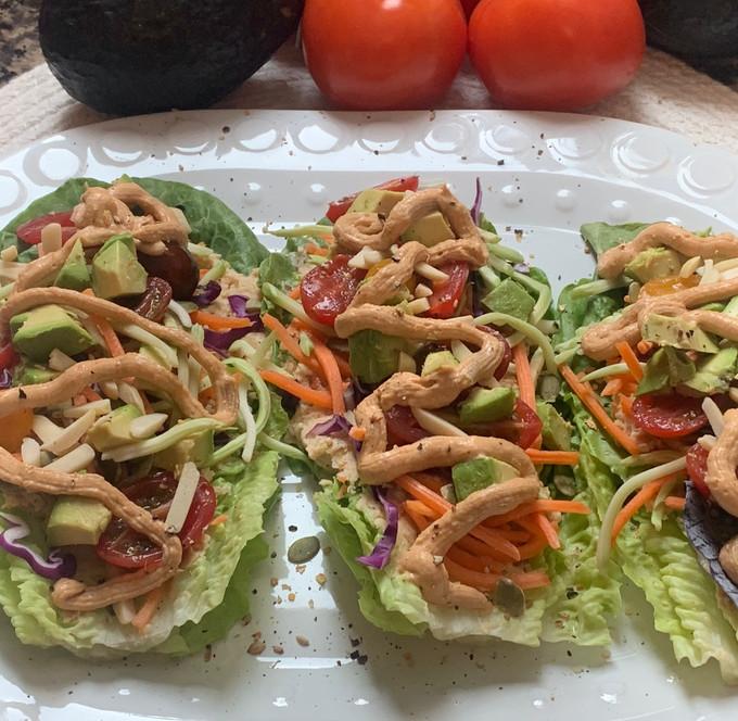 Romaine Lettuce Tacos