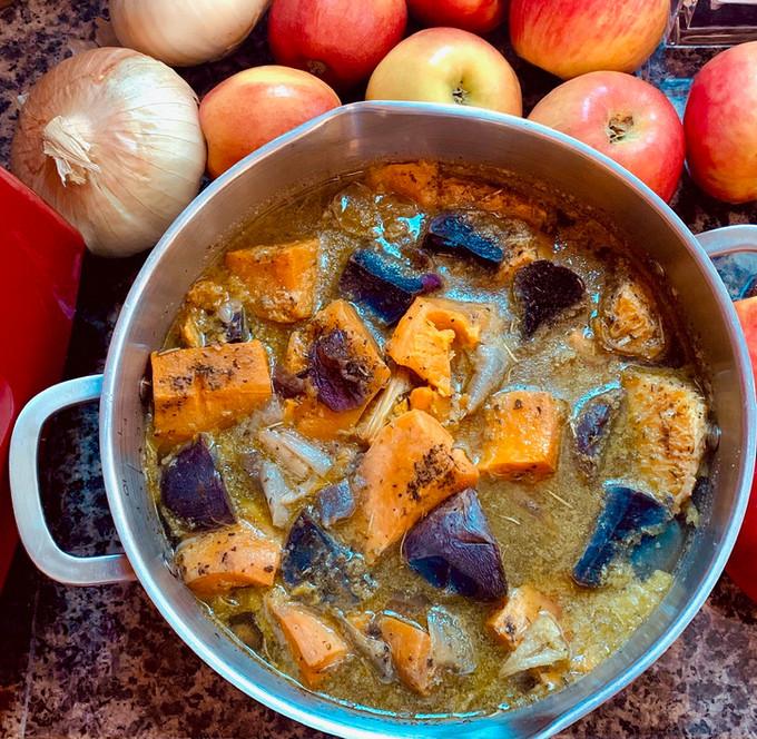 Butternut Squash w/ Sweet & Purple Potato