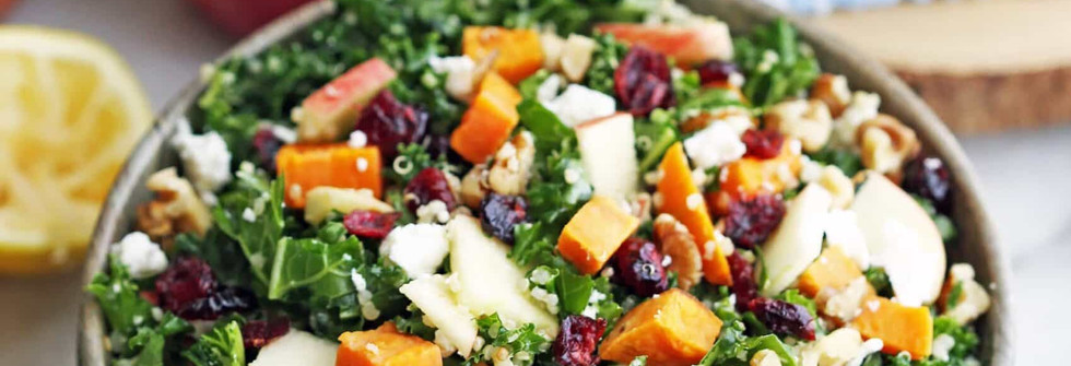 Sweet Potato Quinoa Kale Salad