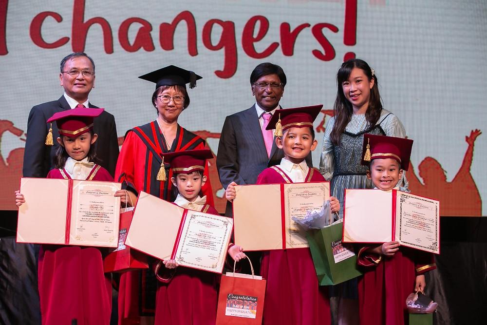 Kindergarten graduates were awarded their diploma