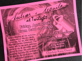 Tulips & Tequila at Twilight - Fri April 20th 7pm-10pm