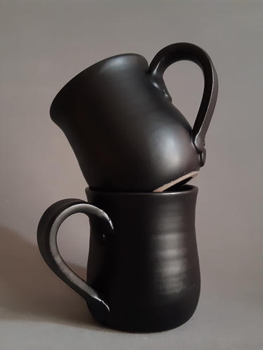 Black Mugs - set of two