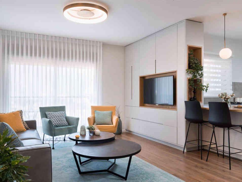 דירה אלגנטית חמה וביתית