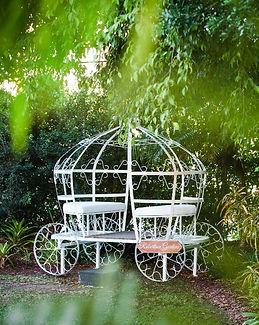 wedding prop - cinderella carriage in garden