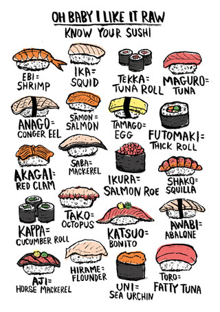 Know your Sushi - Rebel Pencil