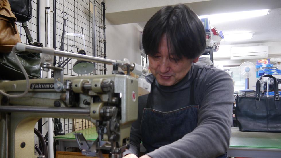 アームミシンでの縫製