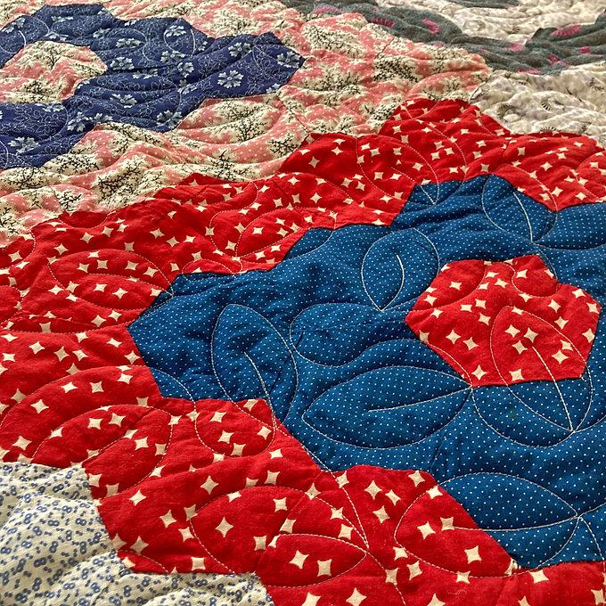 Vintage Quilt Close Up