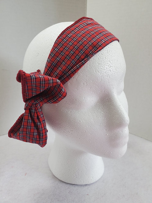 Red Plaid Wire-wrapped Headband