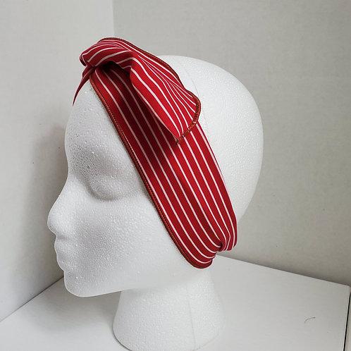 Red w/White Stripes Wire-wrapped Headband