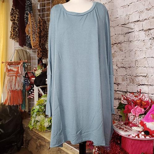 Blue Grey Oversized-Light weight sweater tunic
